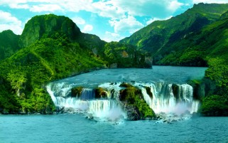 Cascada tropical wallpapers and stock photos