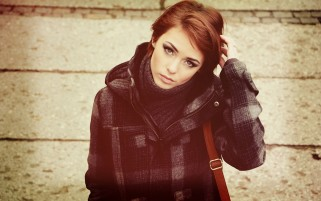 Redhead Autumn Coat wallpapers and stock photos