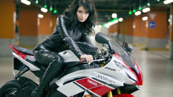 Yamaha Girl wallpapers and stock photos