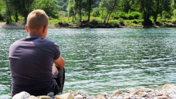 Boy and river wallpapers and stock photos