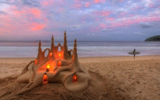 Random: Sand Castle With Lights