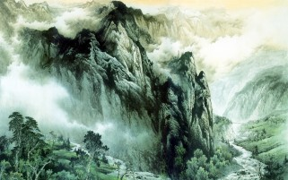 Chinese Mountains & Rivers wallpapers and stock photos