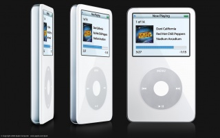 Random: Rotating white iPod