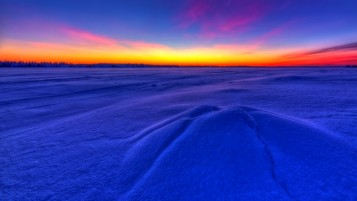 Stunning Winter Sunset wallpapers and stock photos