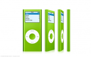 iPod Nano green wallpapers and stock photos