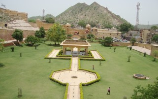 Amber Fort Garden wallpapers and stock photos