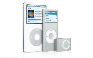 iPod line white wallpapers and stock photos