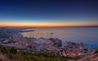 Monaco City Two wallpapers and stock photos