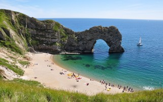 Durdle Door Jurassic Coast One wallpapers and stock photos
