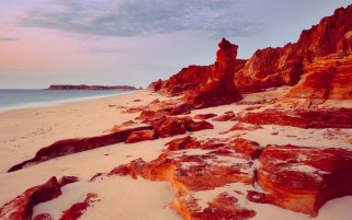 Red Coast Line Australia wallpapers and stock photos