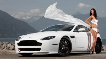 Aston Martin Girl in White wallpapers and stock photos