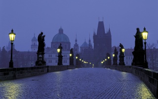 Prague at Dusk wallpapers and stock photos