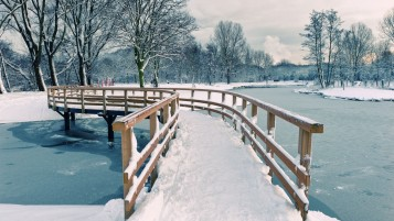 Winter Bridge wallpapers and stock photos