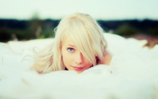 Random: White Veil Blonde Girl