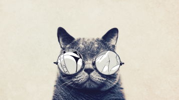 Round Glasses Cute Cat wallpapers and stock photos