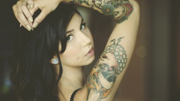 Tattooed Girl wallpapers and stock photos