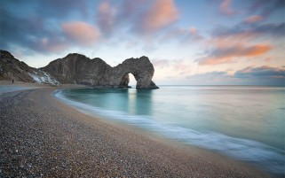 Durdle Door Coast Light wallpapers and stock photos