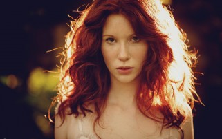 Pretty Redhead Hair in Sunlight wallpapers and stock photos