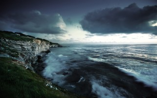 Sea Cliffs Evening wallpapers and stock photos