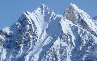 Big Beautiful Snow Mountain wallpapers and stock photos