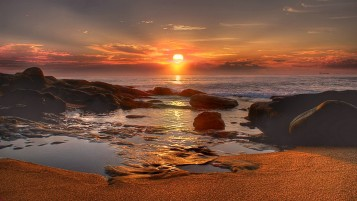 Amazing Sunrise Beach wallpapers and stock photos