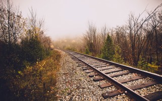 Railroad in Late Autumn wallpapers and stock photos