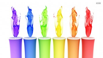 Rainbow Candles wallpapers and stock photos