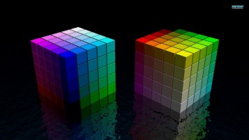 Rainbow Cubes wallpapers and stock photos
