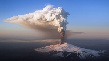 Etna Eruption wallpapers and stock photos