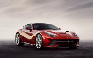 Cloudy Background Ferrari Berlinetta wallpapers and stock photos