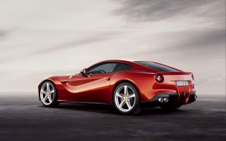 Ferrari F12 Berlinetta Back wallpapers and stock photos