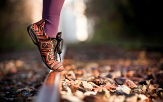 Shoes on the Railroad wallpapers and stock photos