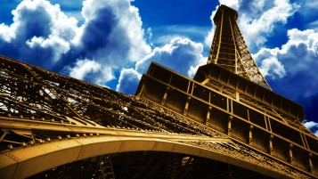 Eiffel Tower Skyscape wallpapers and stock photos