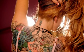Tattooed Back wallpapers and stock photos