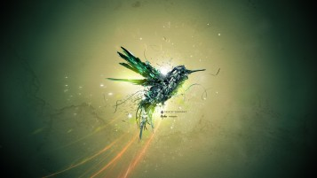 Random: Abstract Green Bird