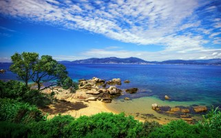 Corsica Porticcio Coast wallpapers and stock photos