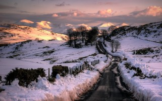 Dirty Winter Road wallpapers and stock photos