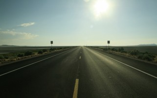 Wide Desert Road wallpapers and stock photos