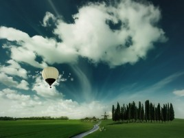 Air Ballon Flying High wallpapers and stock photos