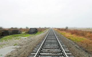 Rail Road Foggy Sky wallpapers and stock photos