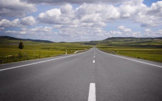 Endless Road Fields & Clouds wallpapers and stock photos