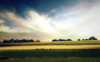 Star Sky & Awesome Fields wallpapers and stock photos