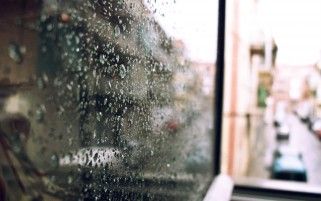 Rain on Balcony Glass wallpapers and stock photos