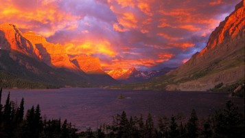 Montana Glacier SaintMaryLake wallpapers and stock photos