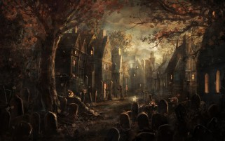 Halloween Scenery wallpapers and stock photos