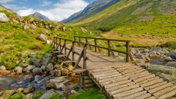 Wooden Bridge Seven wallpapers and stock photos