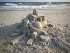 Geometric Sand Castle One wallpapers and stock photos