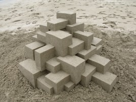 Geometric Sand Castle Two wallpapers and stock photos