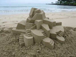 Geometric Sand Castle Five wallpapers and stock photos