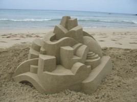 Geometric Sand Castle Six wallpapers and stock photos